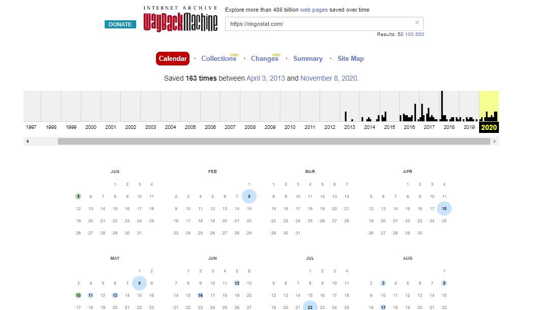 веб-архив история домена