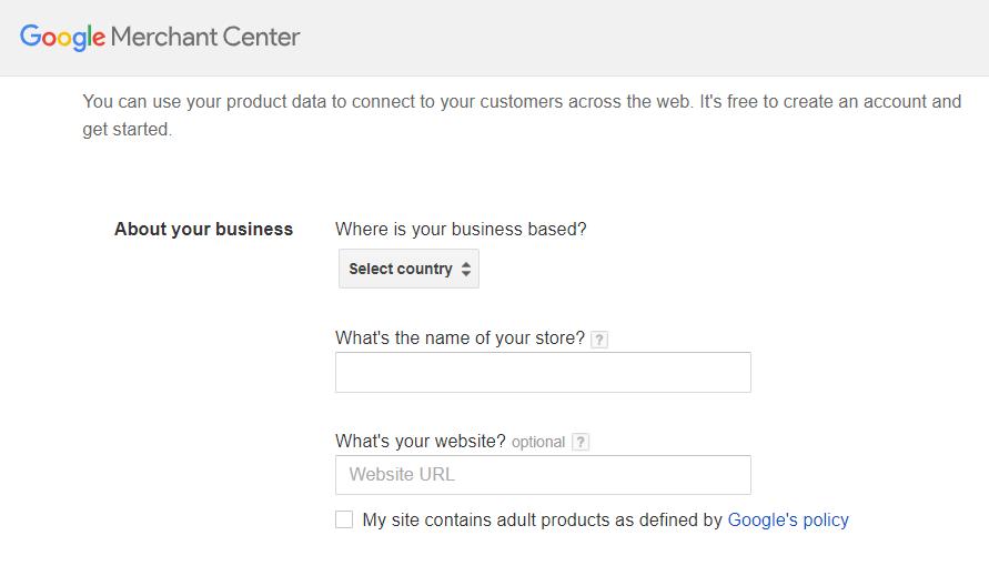 Регистрация в Google Merchant