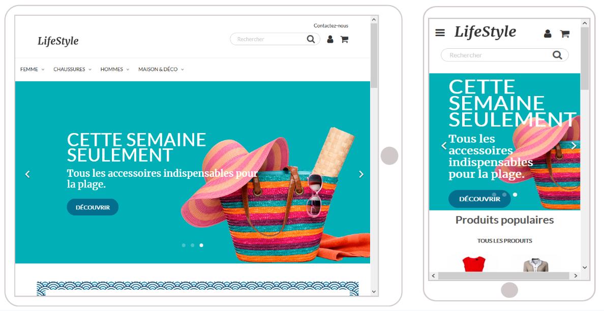 PrestaShop пример адаптивного шаблона обзор CMS