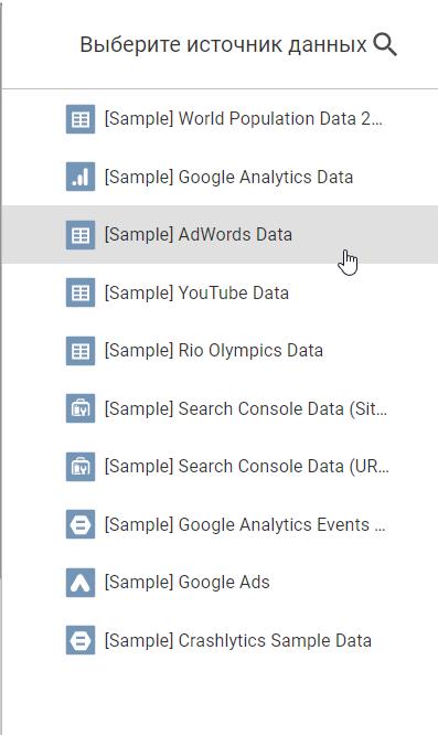 как построить отчет в Google Data Studio