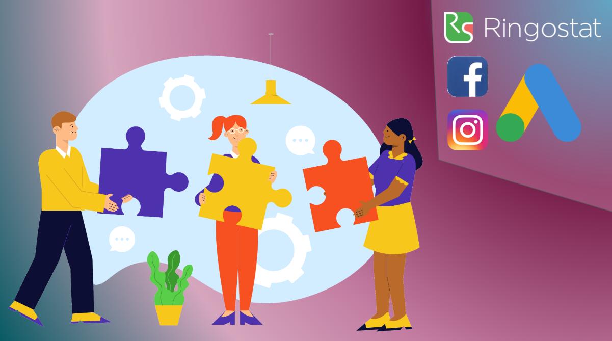 Ringostat integration with Google Ads, Facebook, Instagram and Facebook Pixel