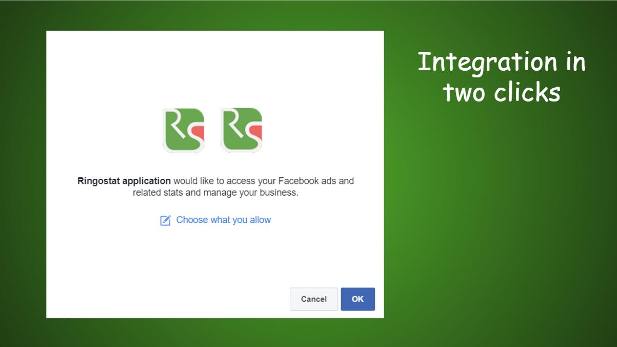 Facebook and Ringostat integration