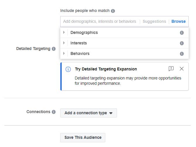 Detailed targeting settings