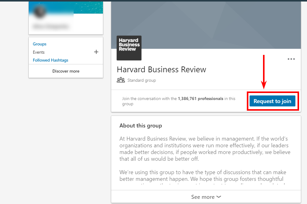 How to join the group on LinkedIn