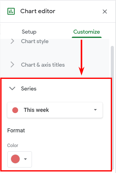 Customize charts