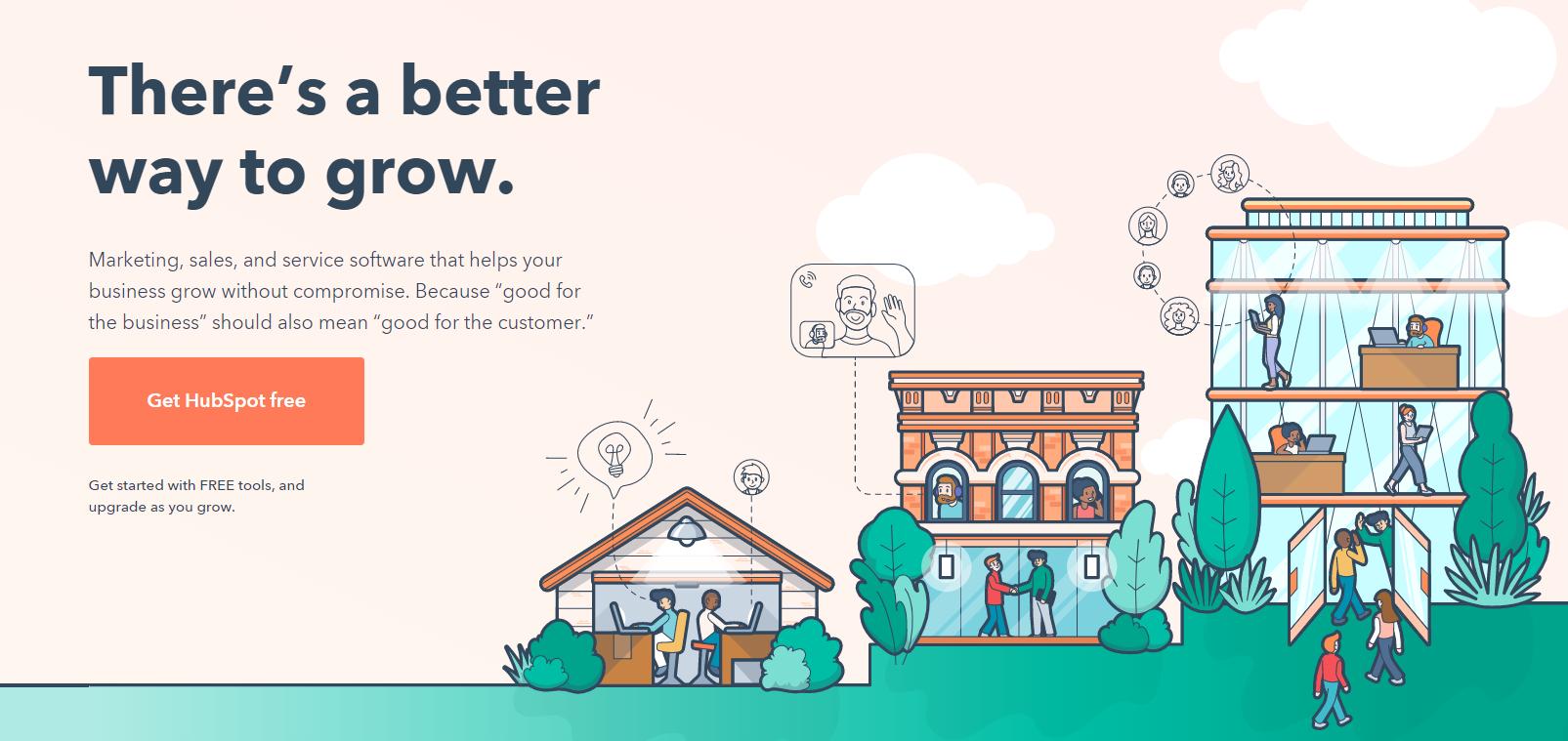 HubSpot website example