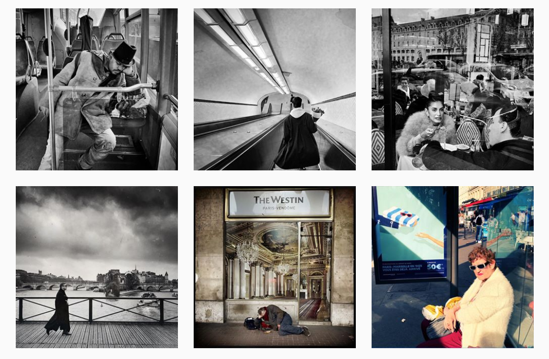 B&W style of the Instagram profile