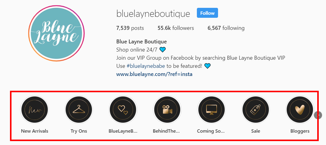 Blue Layne Boutique on Instagram