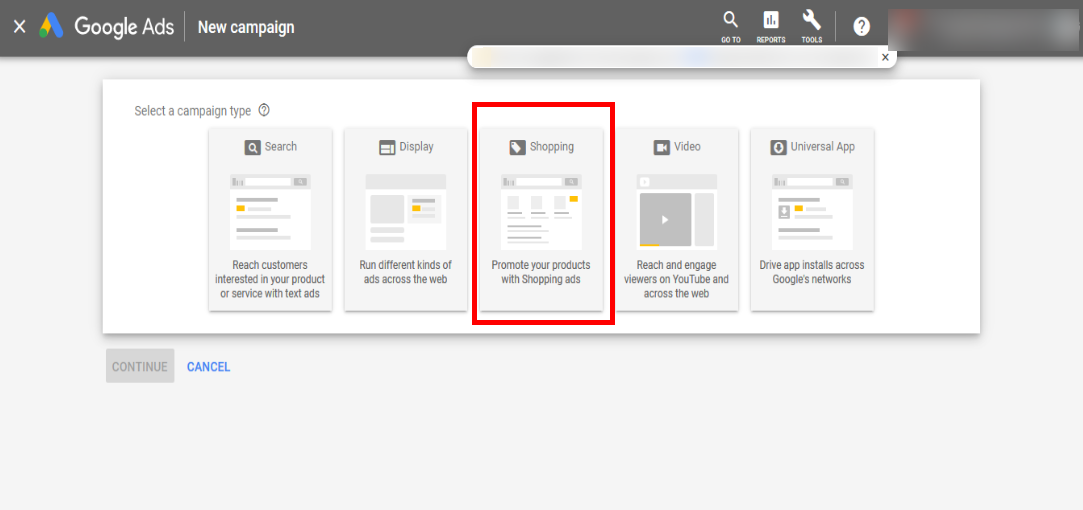 Third step of Google Ads and Google Merchant Center accounts' linking