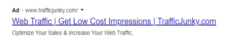 Link ad extensions