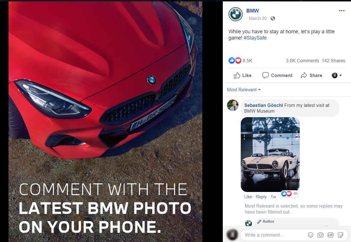 Интерактив от BMW во время карантина