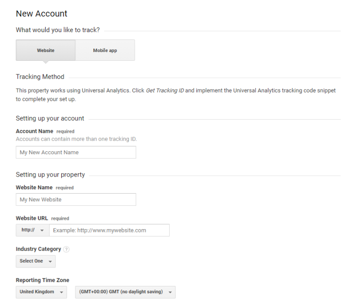 Setting Up Google Analytics account