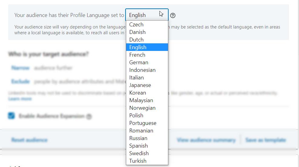 Доступные языковые варианты