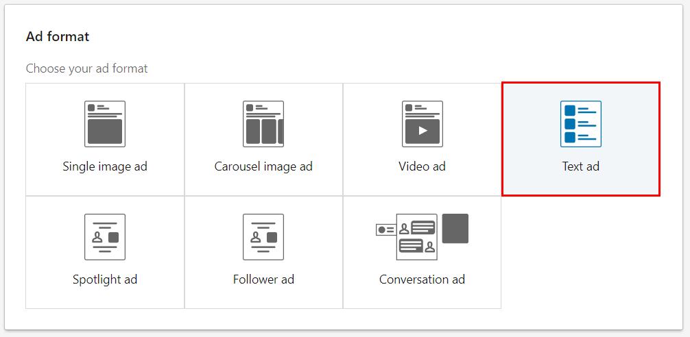 Виды форматов рекламы в LinkedIn